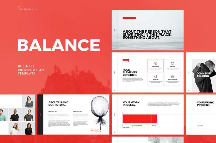 Balans - pulsuz açar təqdimat şablonu