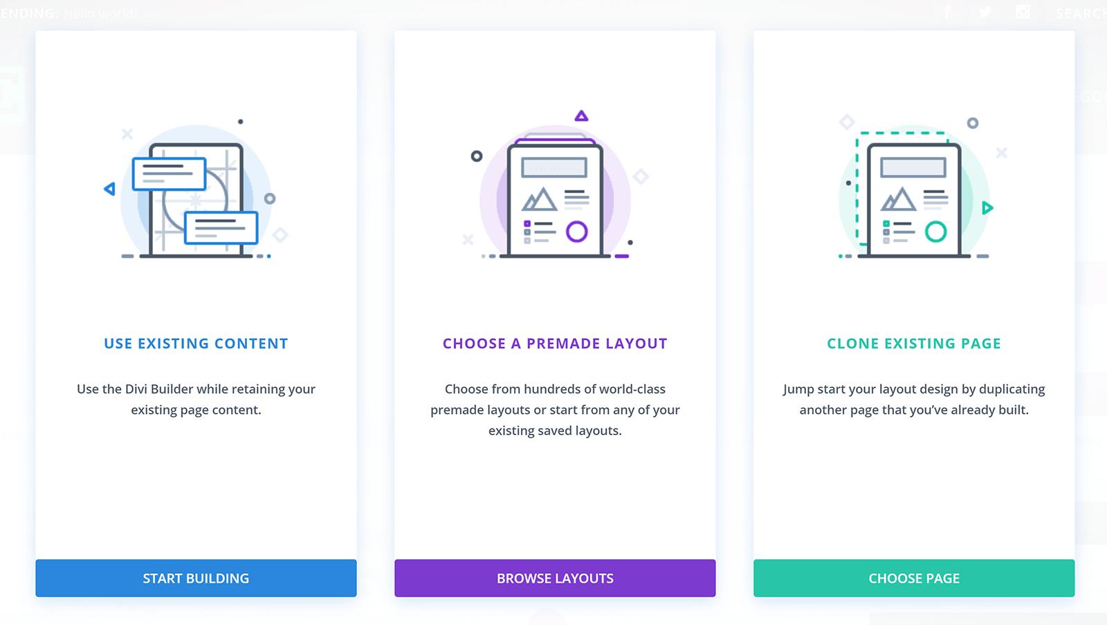 Divi İnşaatçı Seçimi Ekranı