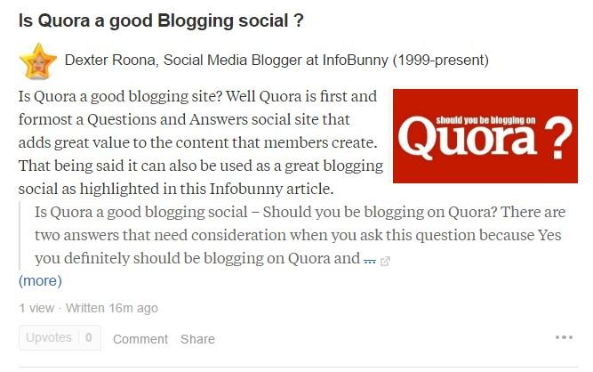 Quora è una buona social blogger?