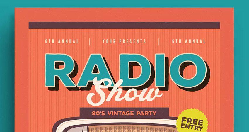 Retro radio tədbir flyeri