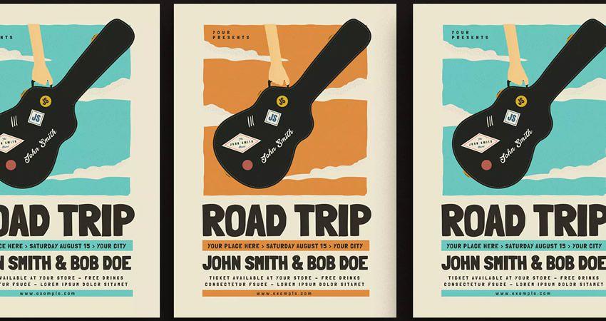 Adobe illüstrator tərəfindən Road Trip Gigs Event Flyer təlimatı