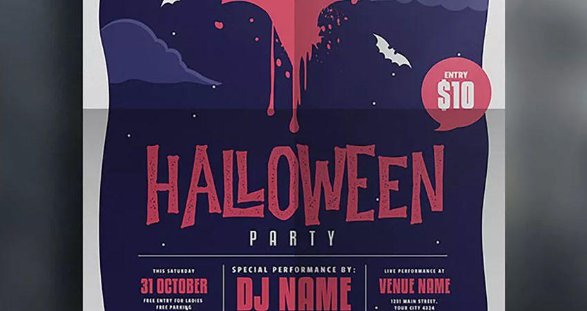 Halloween hadisə flyer adobe illüstrator tutorial