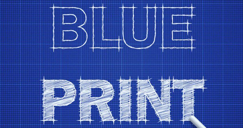 Blueprint Text Effect-dən Adobe Illustrator dərsliyini necə yaratmaq olar