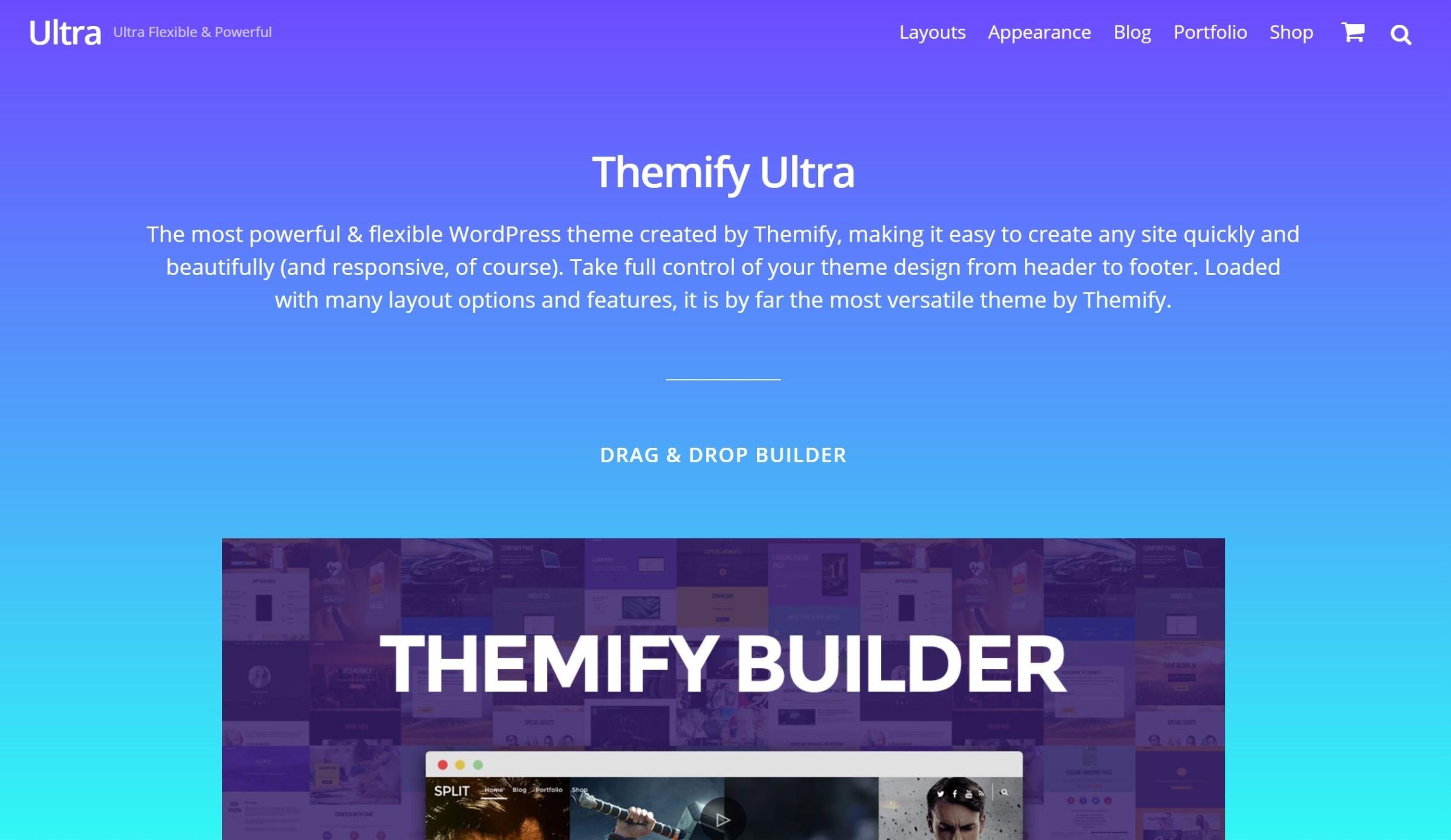 Ultra WordPress mövzusunu Themify