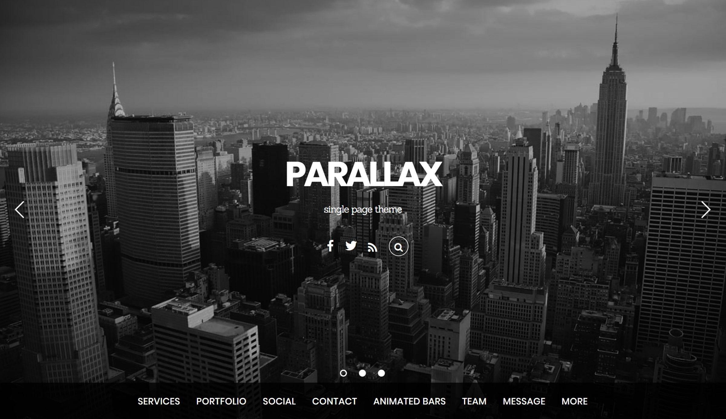 Parallax WordPress mövzusunu Themify