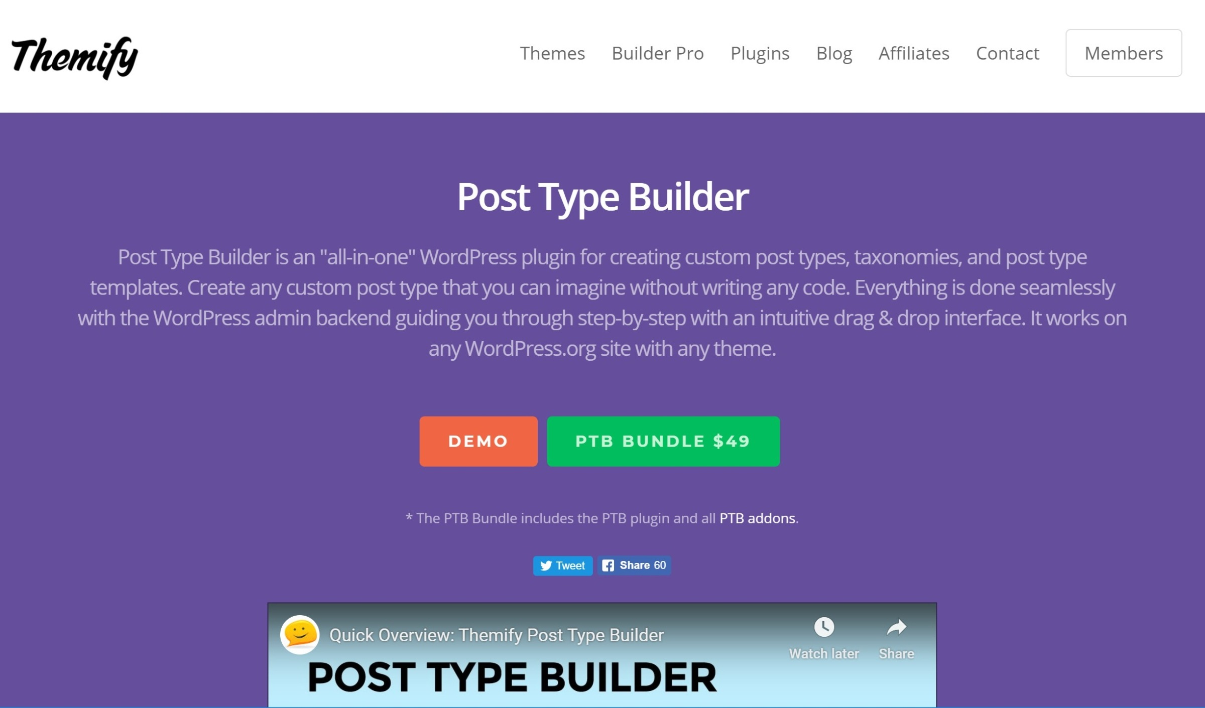 Themify Post Type Builder Plugin