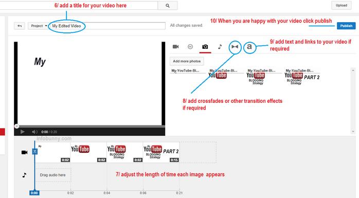 Videostrategie von YouTube Teil 2 Hinzufügen von Bildoptionen