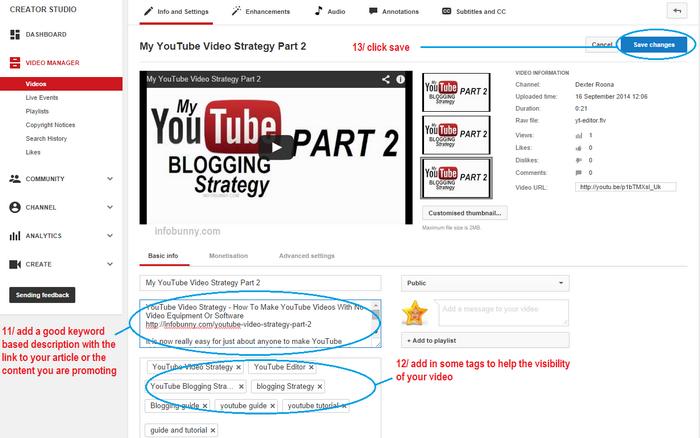 YouTube  Videostrategie Teil 2 enthält eine Beschreibung und Schlüsselwörter