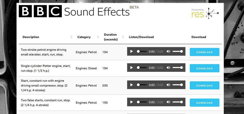 Efectos de sonido de la BBC