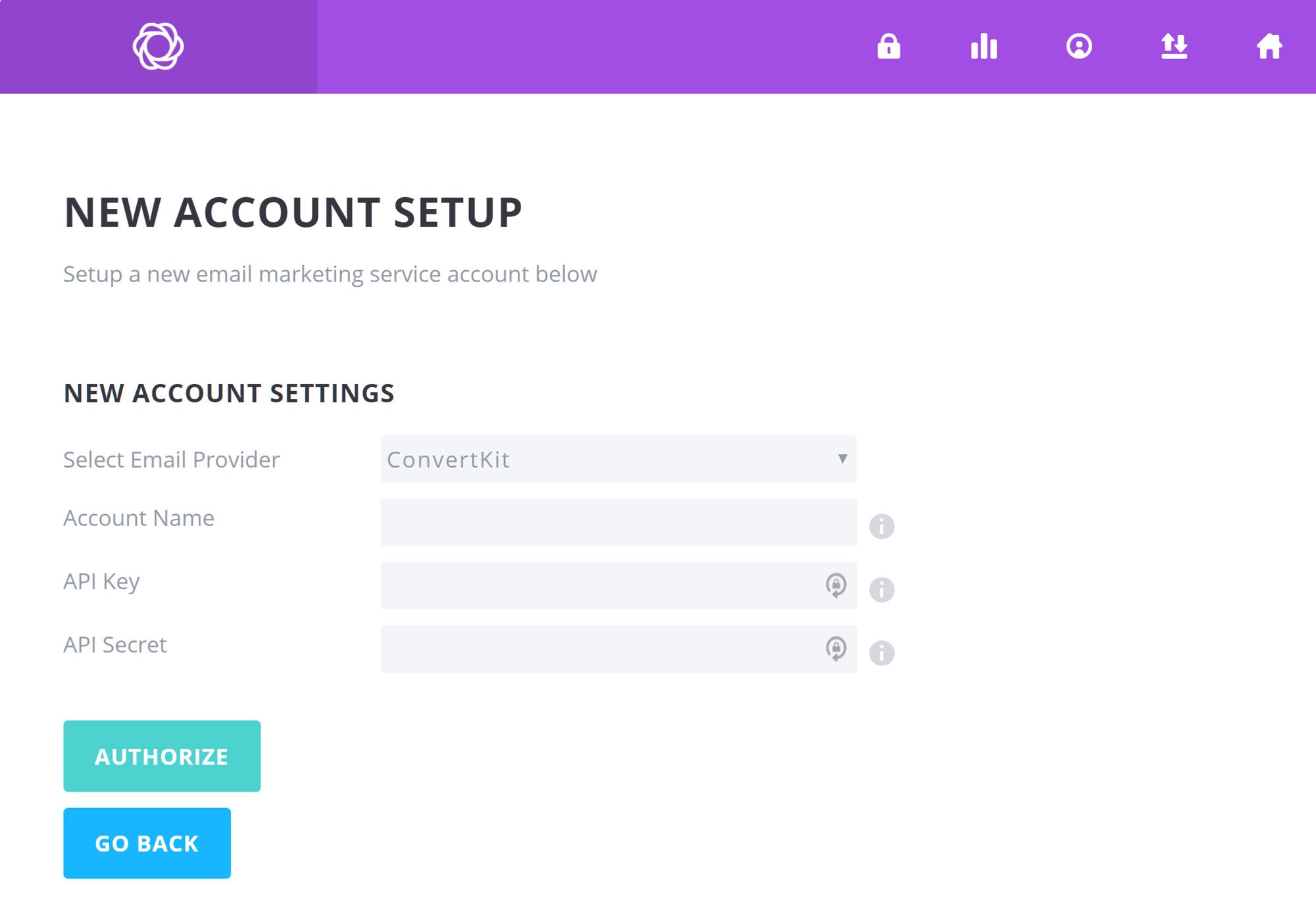Configuración de integración de cuenta de correo electrónico de Bloom