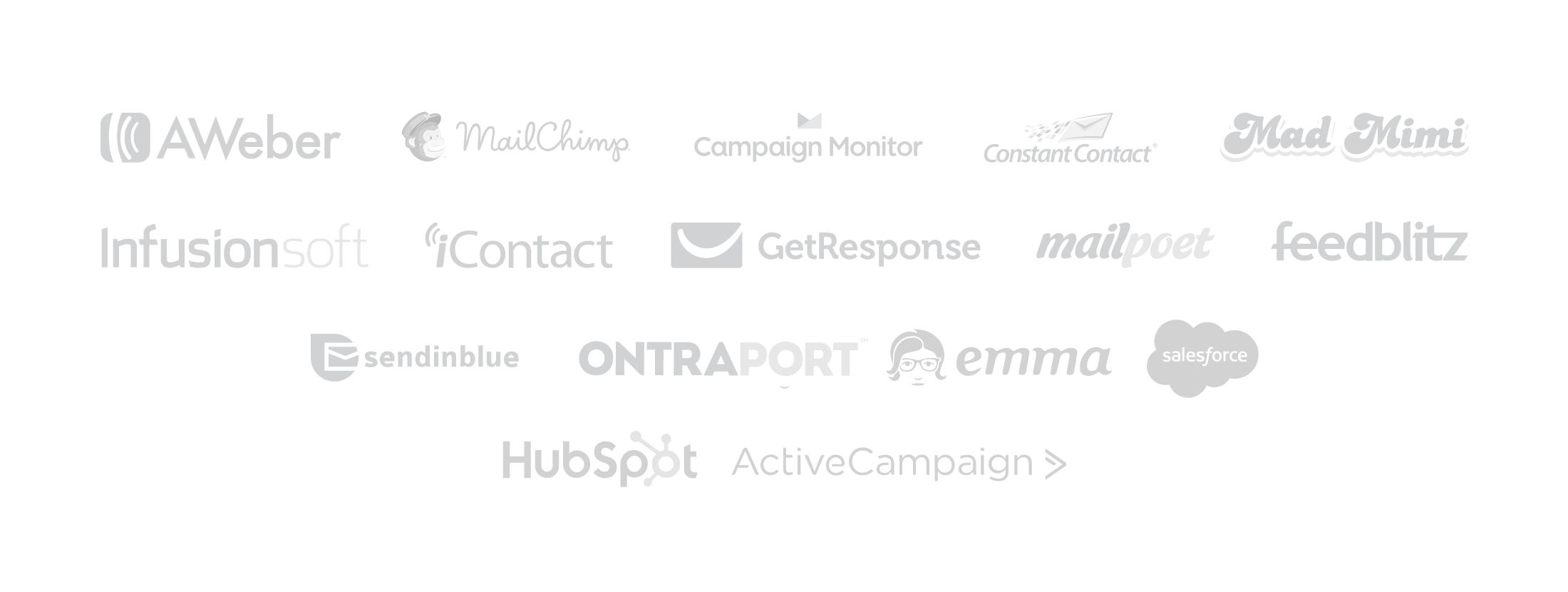 Integraciones de marketing por correo electrónico prósperas