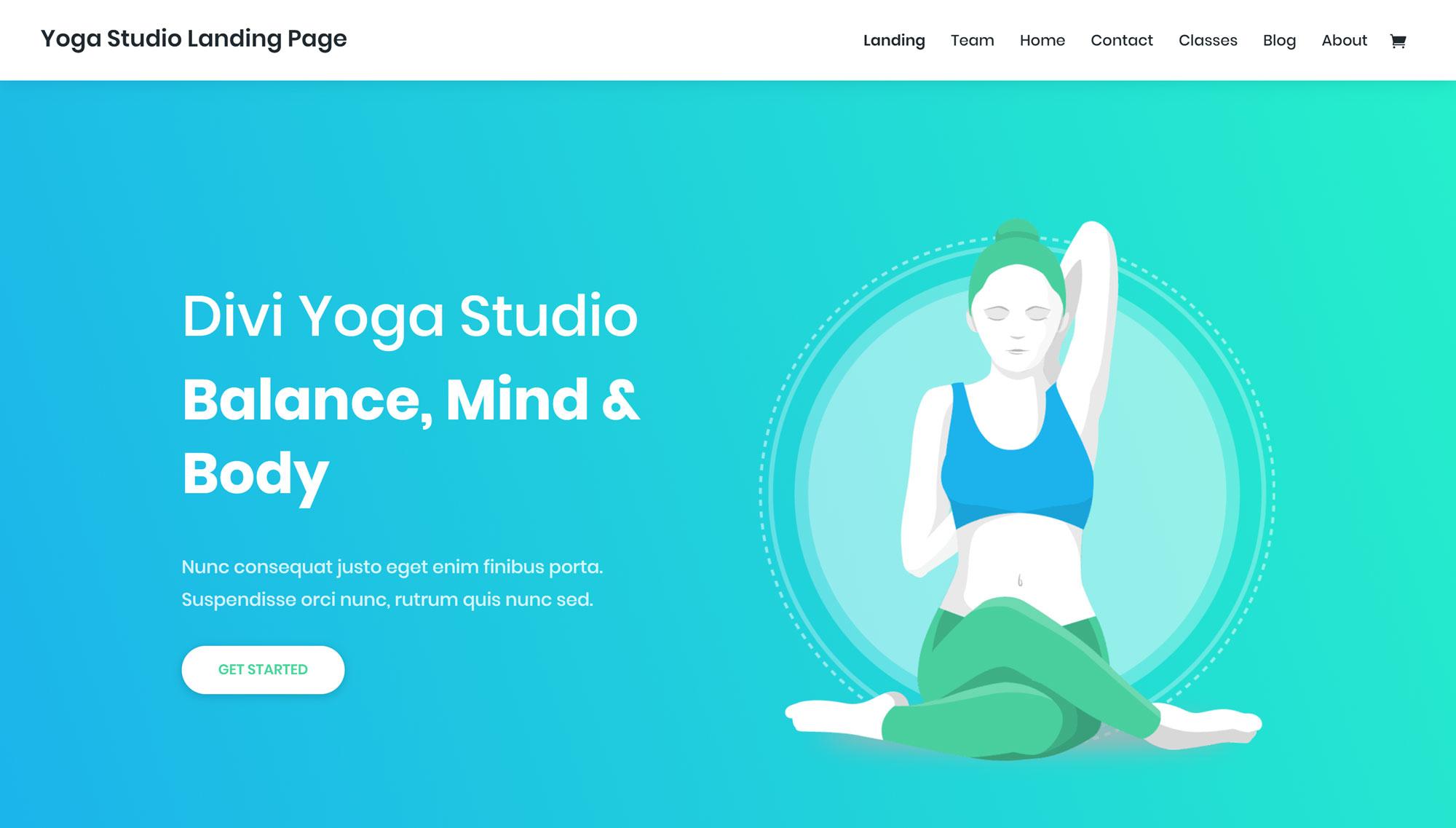 Yoga Studio Veb Dizayn Paketi