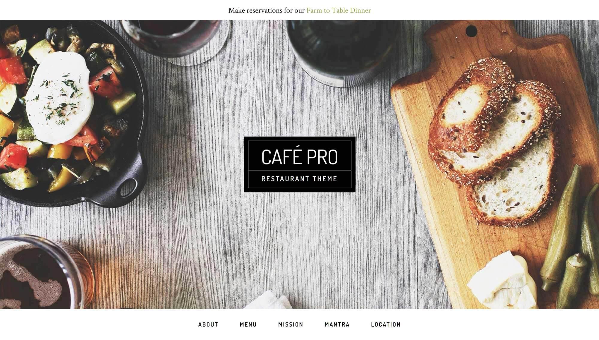Kafe Pro WordPress mövzusu