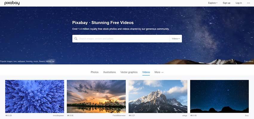 Fuente de video HD 4K Pixabay gratuita