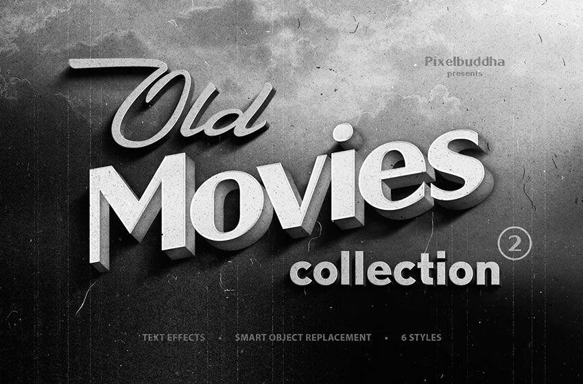 Köhnə film başlıqları kolleksiyası pulsuz film əvvəlcədən işıqlandırma otağı