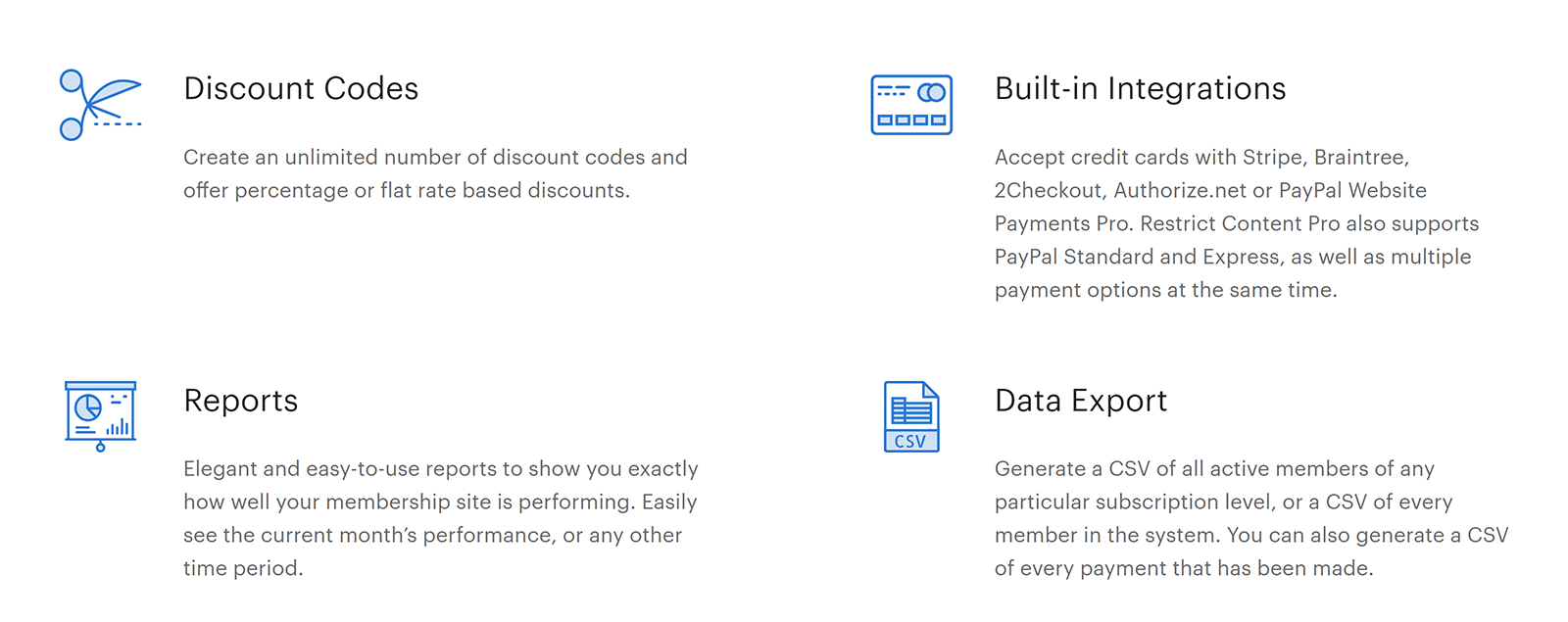 Limite la funcionalidad de Content Pro