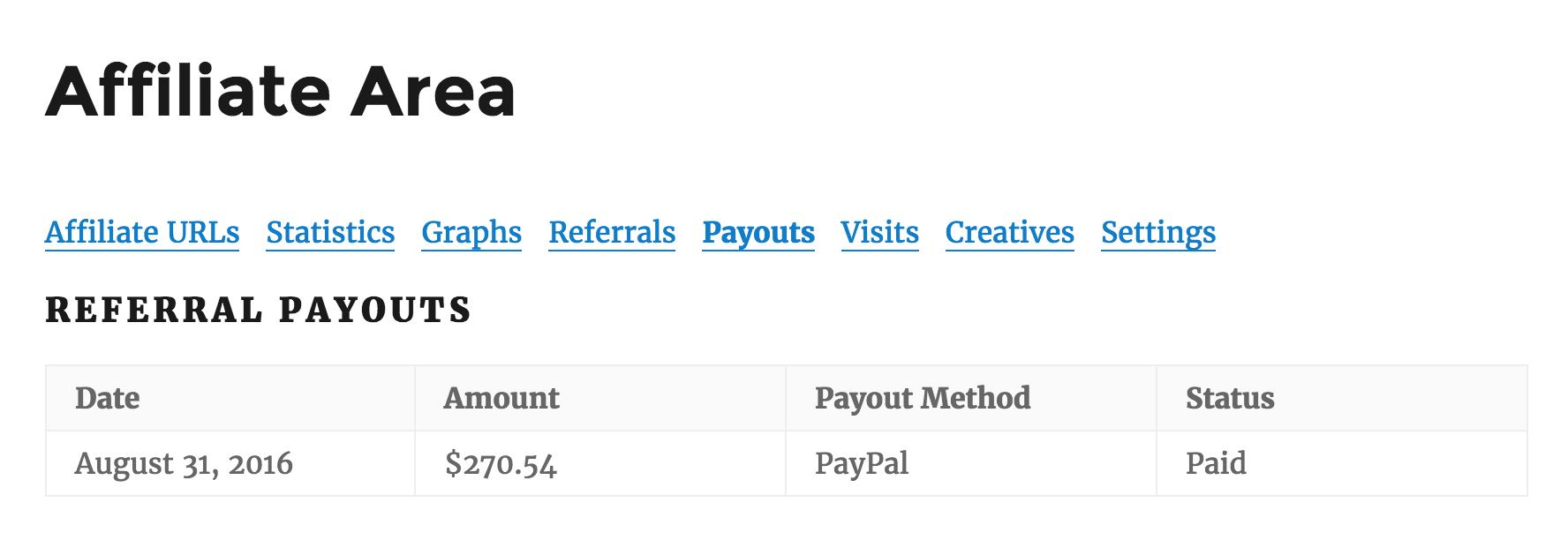 pagos AffiliateWP de referencia