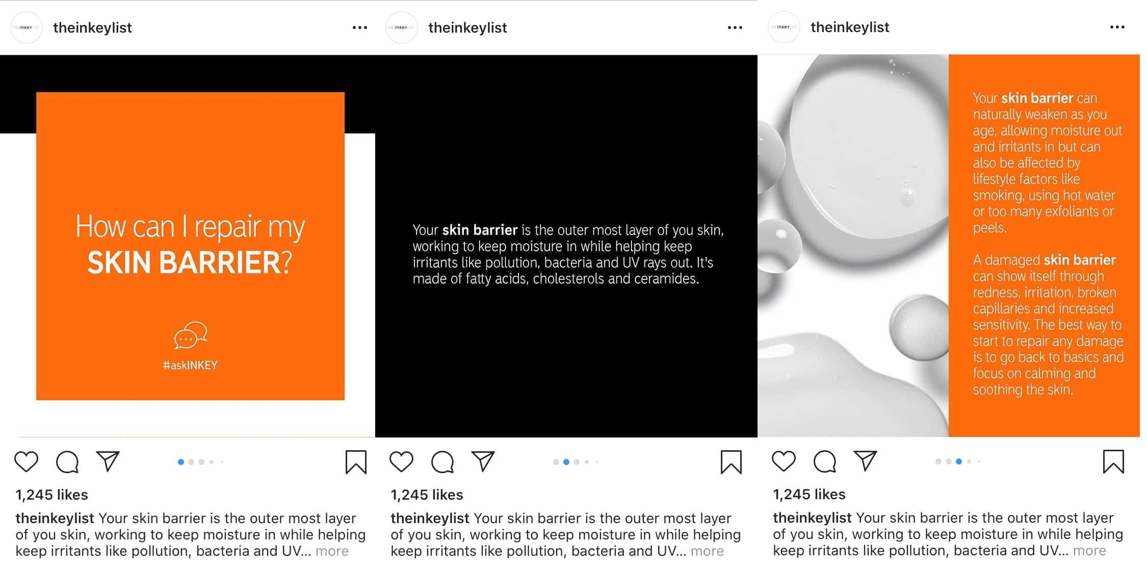 Proporcionar información a través de carrusel de instagram