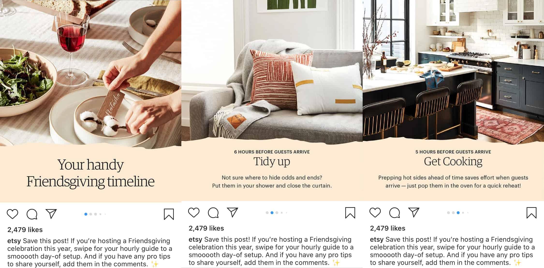 Consejos y tutoriales a través de varias fotos de Instagram