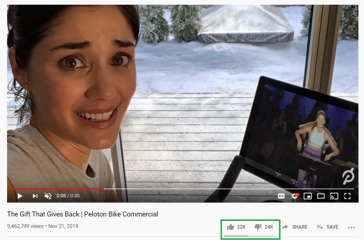 El anuncio de Peloton es un ejemplo de marketing viral que salió mal