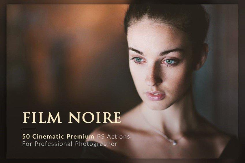 Paquete de acción de Photoshop Noir de película