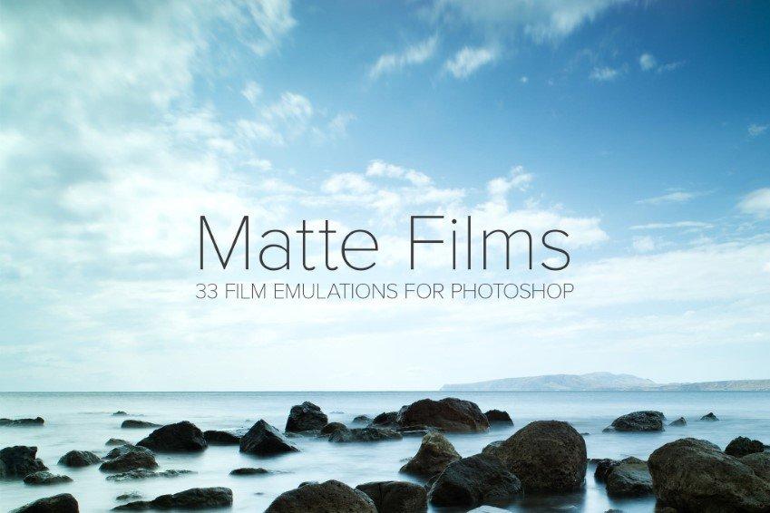 Matt acciones de Photoshop de emulación de película