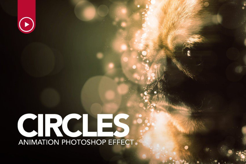 Circles-animaatio Photoshop-toiminta