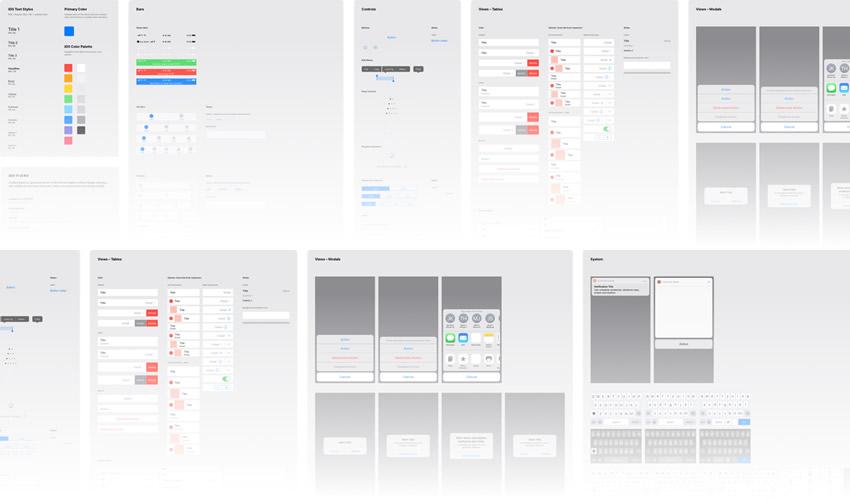 boceto aplicación móvil ui kit boceto formato ux diseño libre creativo sketch.app