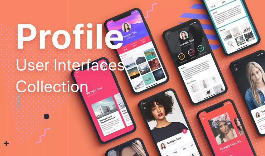 perfil colección boceto aplicación móvil ui kit boceto formato ux diseño creativo boceto.app