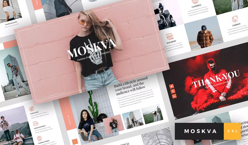 Moskva Moda google slaydlar tema təqdimat şablonu