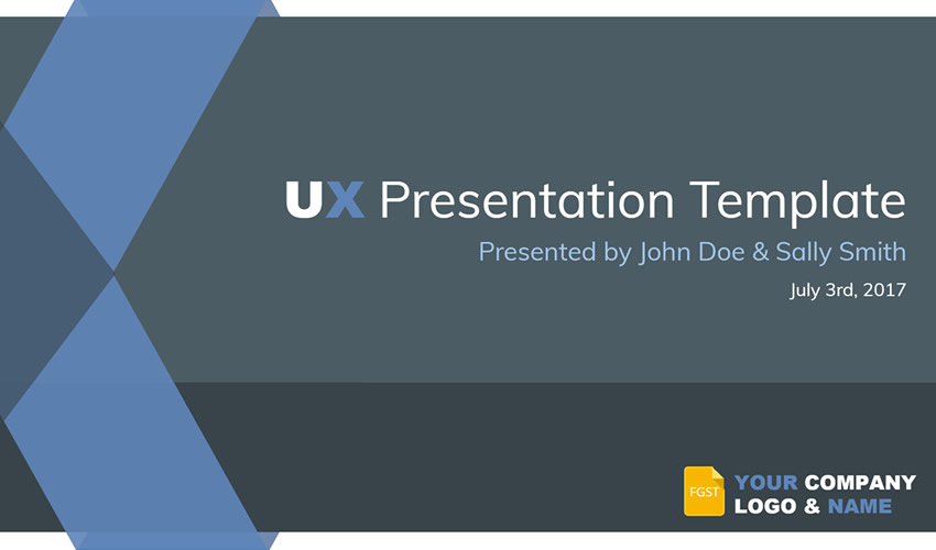 Plantilla de presentación gratuita de experiencia de usuario de UX Google Slide Theme