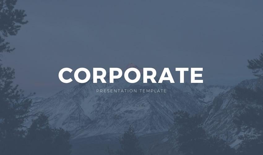 Pulsuz korporativ google slayd teması təqdimat şablonu