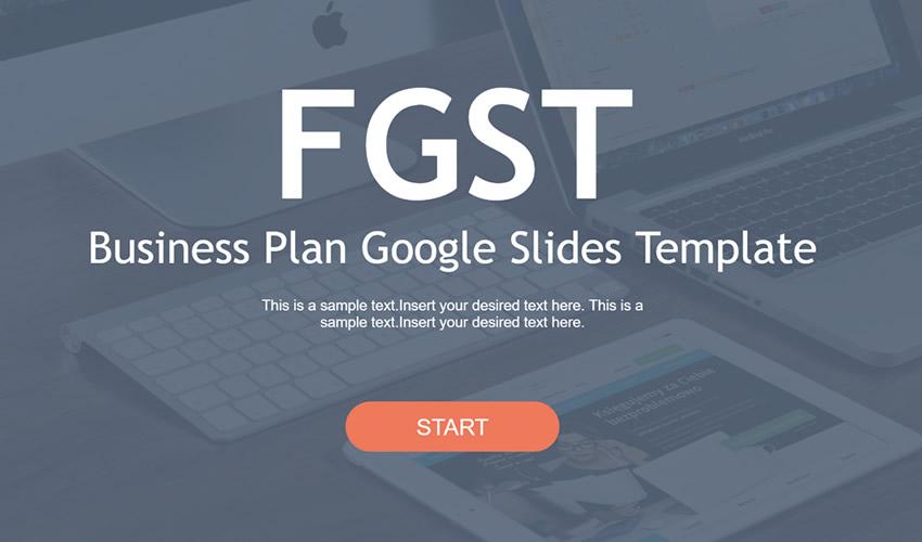Pulsuz Google Business Plan Slayd Tema Təqdimatı Şablonu