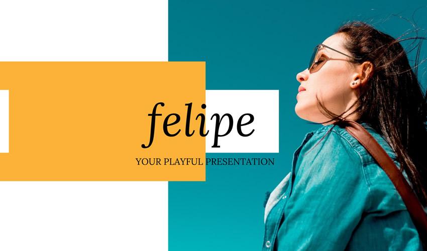 Plantilla gratuita de presentación del tema Felipe Google Slides