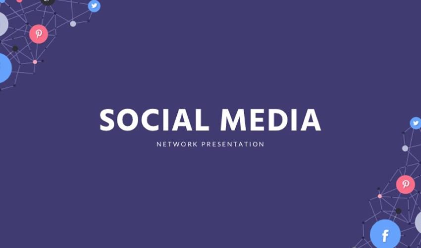 Pulsuz Sosial Media Google Slayd Tema Təqdimatı Şablonu
