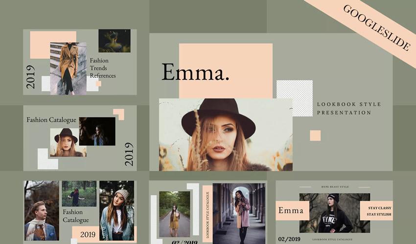 Plantilla de presentación del tema Emma Google Slides