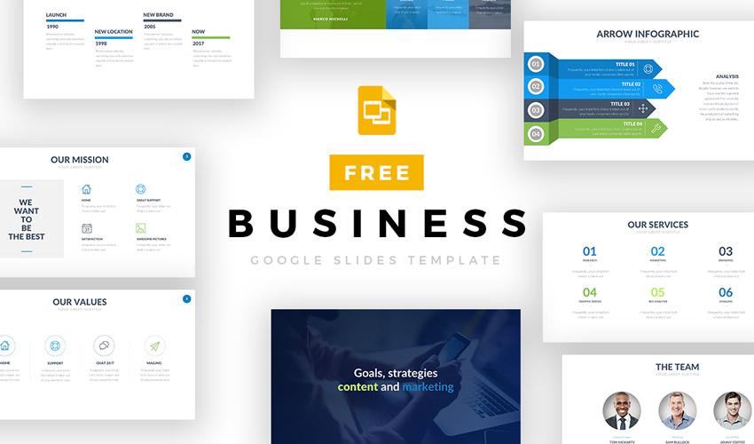 Plantilla gratuita de presentación del tema empresarial de Google Slide
