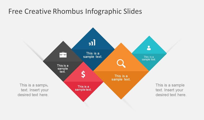 Plantilla de presentación temática de diapositivas de Google infográfica de rombos gratuita