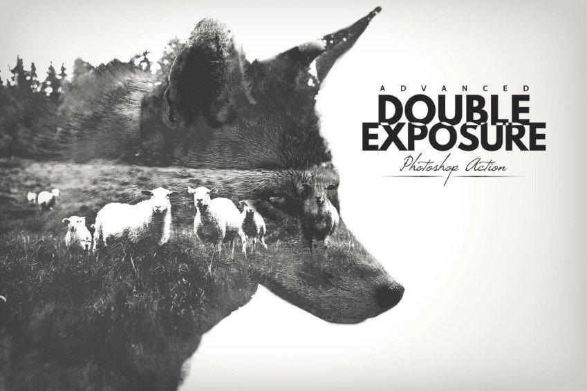 Acción avanzada de Photoshop de doble exposición
