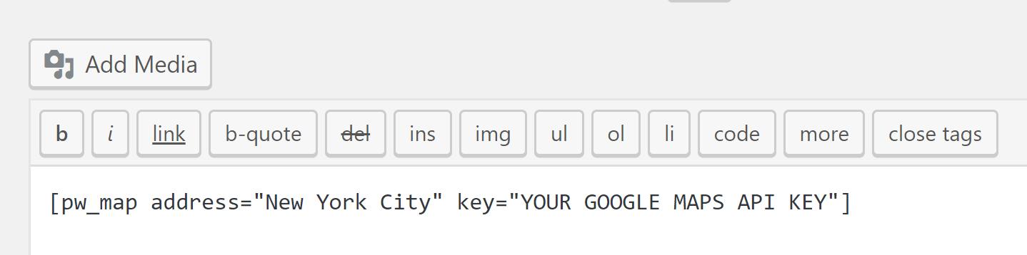 Sadə Google Xəritələr qısa kodu