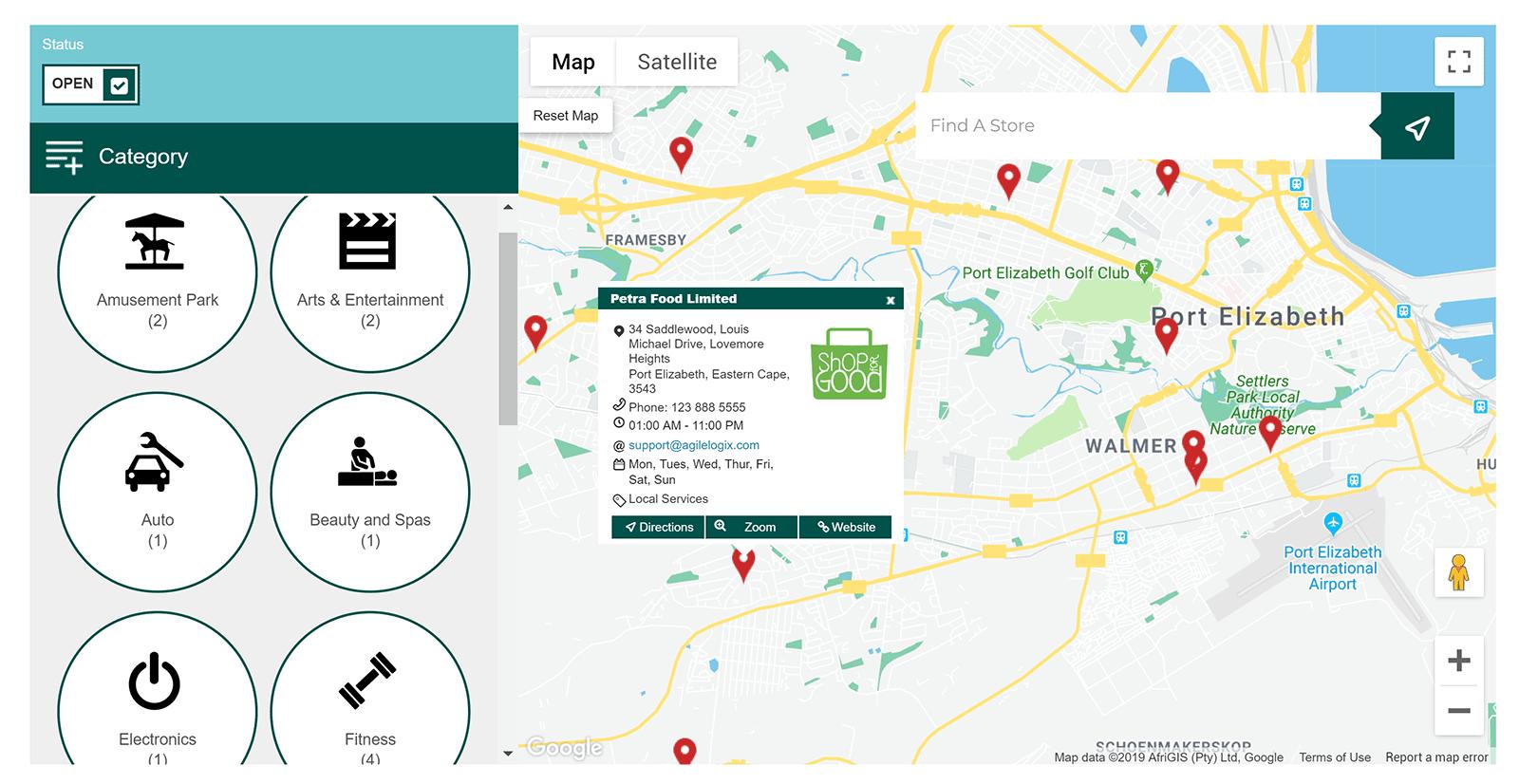 Çevik mağazanın yeri xəritəsi