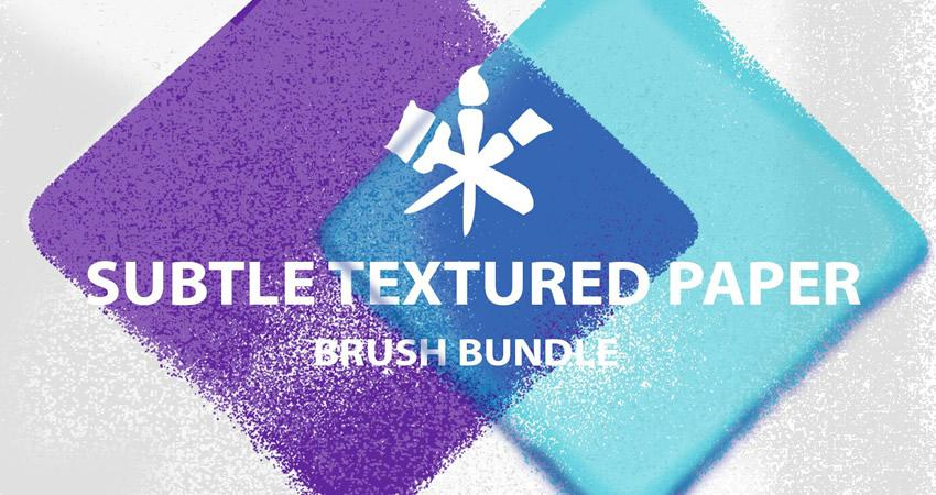 Sutil textura de papel suave Adobe Free Photoshop Brush Set