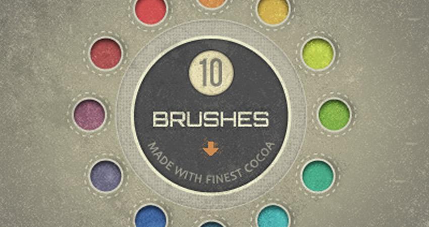 Dumanlı fırçalar, hamar və incə Adobe toxuması ilə kakao olmayan Photoshop fırçaları ilə hazırlanmışdır.