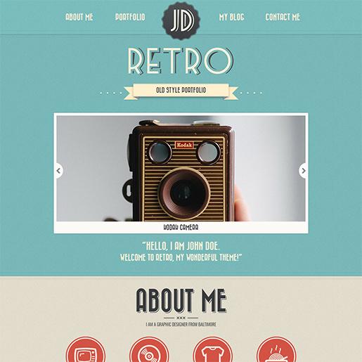 Hermoso tema de WordPress - Portafolio retro