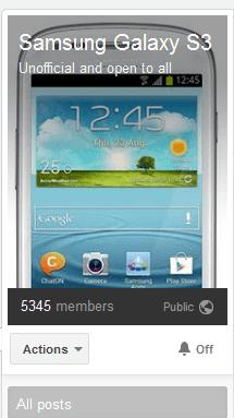 Hysbysiadau gan Google Plus Samsung Galaxy