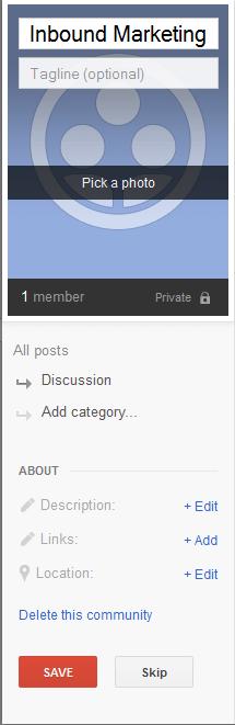 Cymuned Marchnata Mewnol Google Plus