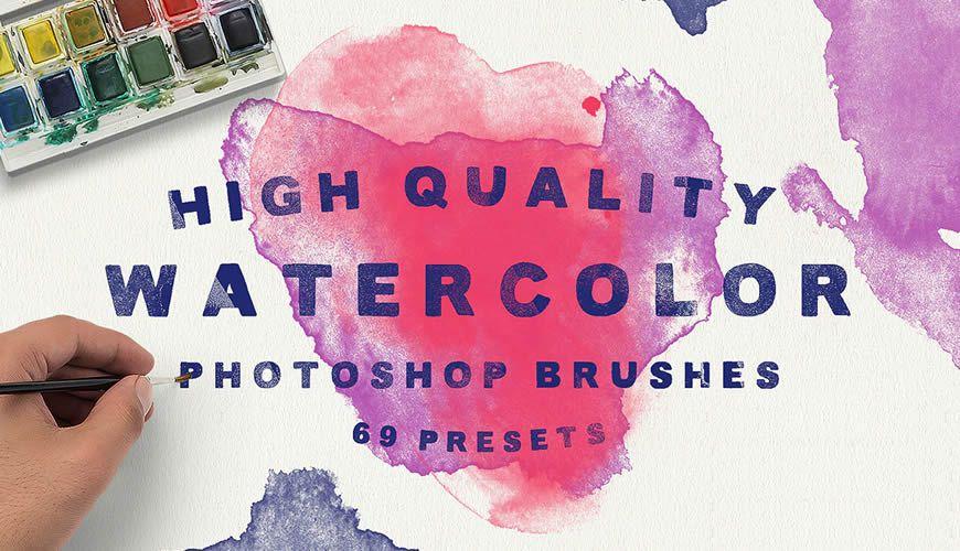free watercolor Photoshop brush