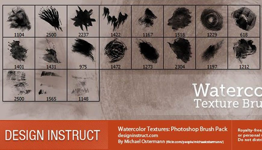 Free Watercolor Texture Photoshop Brushes
