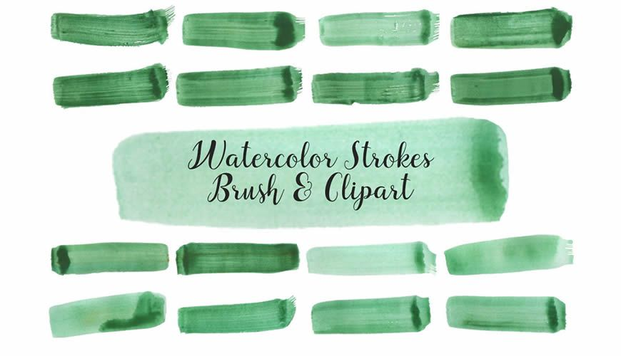 Free Watercolor Strokes Photoshop Brushes
