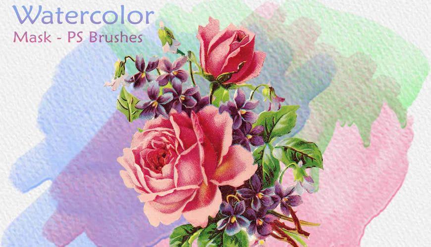 فرش فوتوشوب بدون قناع ألوان مائية